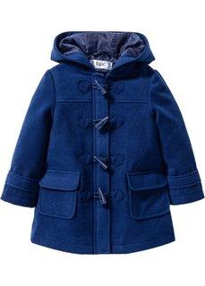 Однотонное пальто-дафлкот на молнии (ночная синь) Bonprix