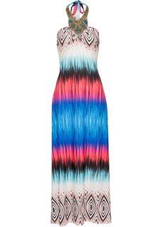 Платье с ярким рисунком (синий) Bonprix