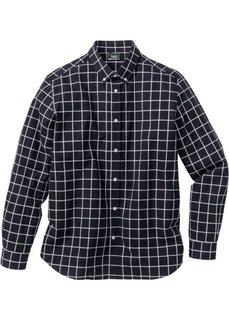 Клетчатая рубашка Regular Fit с длинным рукавом (черный в клетку) Bonprix