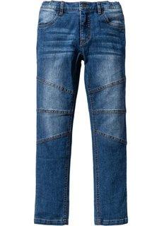 Байкерские джинсы Slim Fit (синий) Bonprix