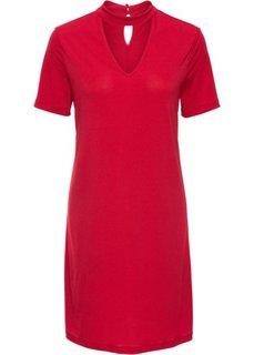 Классика гардероба: платье с чокером (красный) Bonprix