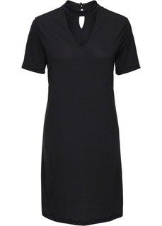 Классика гардероба: платье с чокером (черный) Bonprix