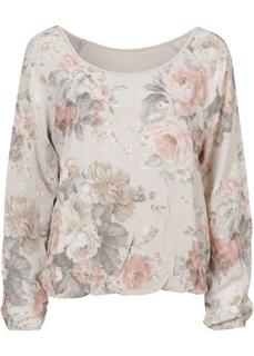 Романтичная блуза в цветочек (бежевый в цветочек) Bonprix