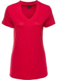 Классика гардероба: футболка с чокером (красный) Bonprix