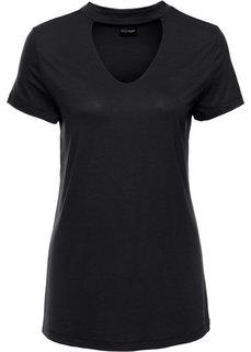 Классика гардероба: футболка с чокером (черный) Bonprix