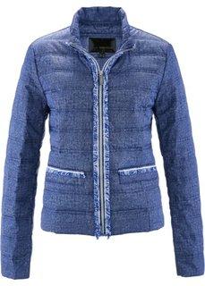 Стеганая куртка с имитацией денима (ночная синь/белый с рисунком) Bonprix