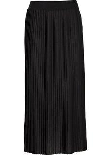 Плиссированная юбка (черный) Bonprix