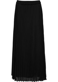 Длинная плиссированная юбка (черный) Bonprix