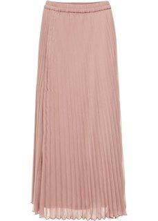 Длинная плиссированная юбка (розовый) Bonprix