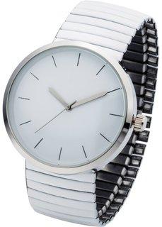 Часы на эластичном браслете (белый) Bonprix