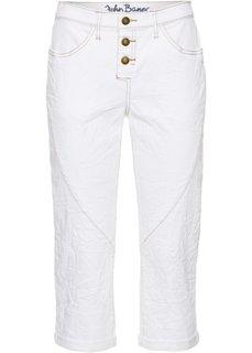 Укороченные джинсы стретч в стиле бойфренда, cредний рост (N) (белый) Bonprix