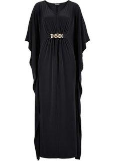 Трикотажное платье с цепочкой ПРЕМИУМ (черный) Bonprix