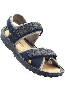Кожаные трекинговые сандалии (темно-синий) Bonprix