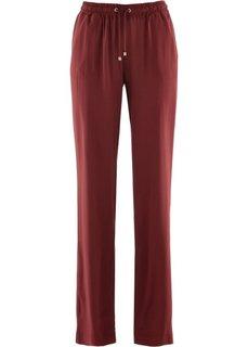 Вискозные брюки (темно-красный) Bonprix