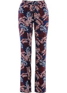 Вискозные брюки (темно-синий/темно-красный) Bonprix