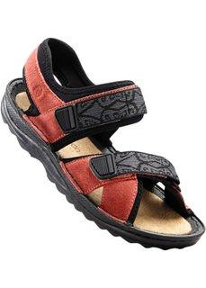 Кожаные трекинговые сандалии (лососевый) Bonprix