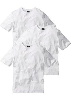 Классическая футболка (3х белый) Bonprix