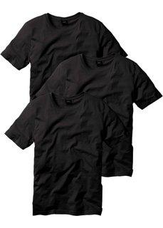 Классическая футболка (3х черный) Bonprix