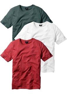 Классическая футболка (бордовый + темно-зеленый + белый) Bonprix