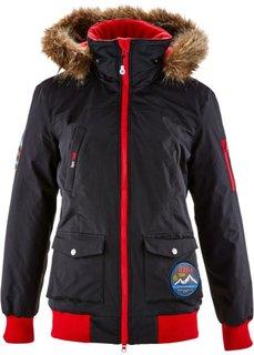 Функциональная теплая куртка с капюшоном (черный) Bonprix