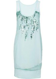 Платье с пайетками (мятный пастельный) Bonprix
