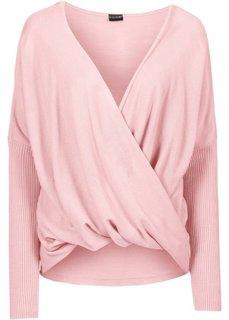 Вязаный пуловер (нежно-розовый) Bonprix