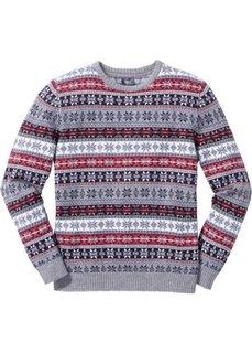Пуловер Regular Fit в норвежском стиле (светло-коричневый) Bonprix