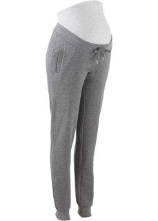 Для будущих и кормящих мам: трикотажные брюки для фитнеса (серый меланж/светло-серый меланж) Bonprix