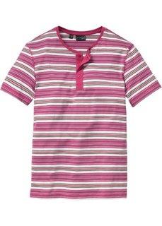 Футболка Slim Fit (ярко-розовый в полоску) Bonprix