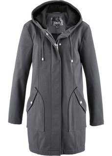 Куртка-парка из материала софтшелл (антрацитовый меланж) Bonprix