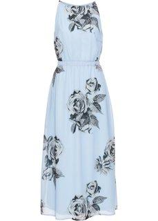 Макси-платье (нежно-голубой с рисунком) Bonprix