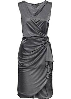 Платье с вырезами (антрацитовый) Bonprix