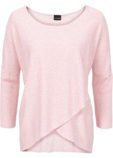 Пуловер (нежно-розовый меланж) Bonprix