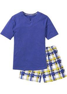 Пижама (сапфирно-синий в клетку) Bonprix