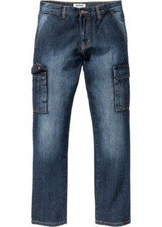 Классические джинсы карго, cредний рост (N) (темно-синий) Bonprix