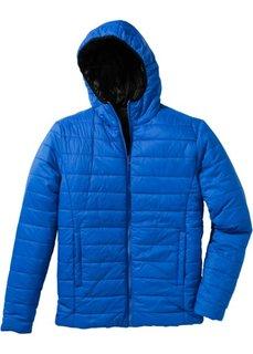 Двухсторонняя куртка Regular Fit (черный/лазурный) Bonprix