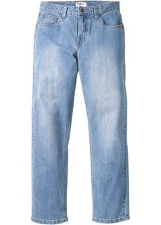 Джинсы стреч Regular Fit Straight, низкий + высокий рост (U + S) (нежно-голубой) Bonprix