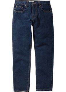 Джинсы Regular Fit Straight, низкий + высокий рост (U + S) (темно-синий) Bonprix