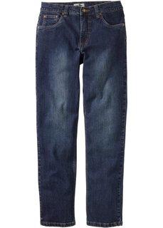 Джинсы стреч Regular Fit Straight, низкий + высокий рост (U + S) (темно-синий) Bonprix