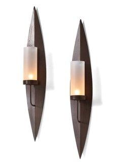 Настенные подсвечники Риа (2 шт.) (коричневый) Bonprix