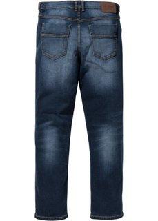 Классические прямые джинсы-стретч, низкий + высокий рост (U + S) (темно-синий) Bonprix