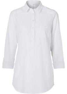 Длинная блузка (белый) Bonprix
