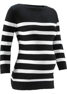 Пуловер в полоску: мода для беременных (черный/белый в полоску) Bonprix