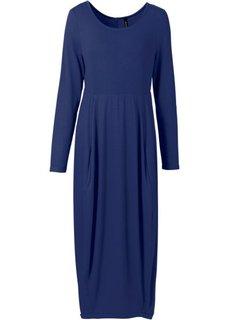 Трикотажное платье макси (ночная синь) Bonprix