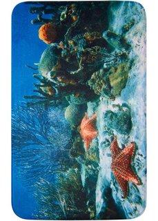 Коврик для ванной Подводный мир из пены-мемори (синий) Bonprix