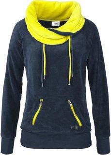 Флисовая куртка (темно-синий/зеленый лайм) Bonprix