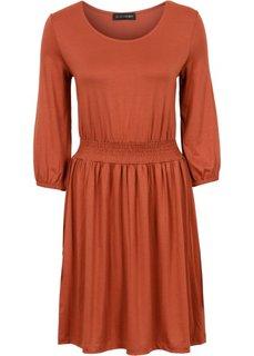 Трикотажное платье (ржаво-красный) Bonprix
