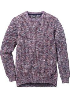 Пуловер (темно-синий меланж) Bonprix