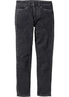 Джинсы-стретч дизайна 5 карманов Slim Fit Straight, длина (в дюймах) 32 (антрацитовый деним) Bonprix
