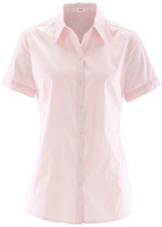 Блуза-рубашка с короткими рукавами (жемчужно-розовый) Bonprix